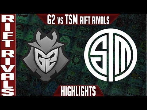 G2 vs TSM Highlights | Rift Rivals 2019 Day 2 NA vs EU | G2 Esports vs Team Solomid