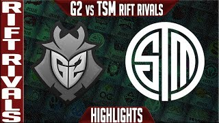 G2 vs TSM Highlights | Rift Rivals 2019 Day 2 NA vs EU | G2 Esports vs Team Solomid