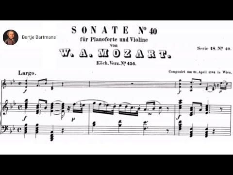 Mozart - Violin Sonata No. 32, B flat Major, K.454