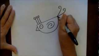 How To Draw A Cartoon Chick Step-by-Step Easy Beginner Drawing Lesson