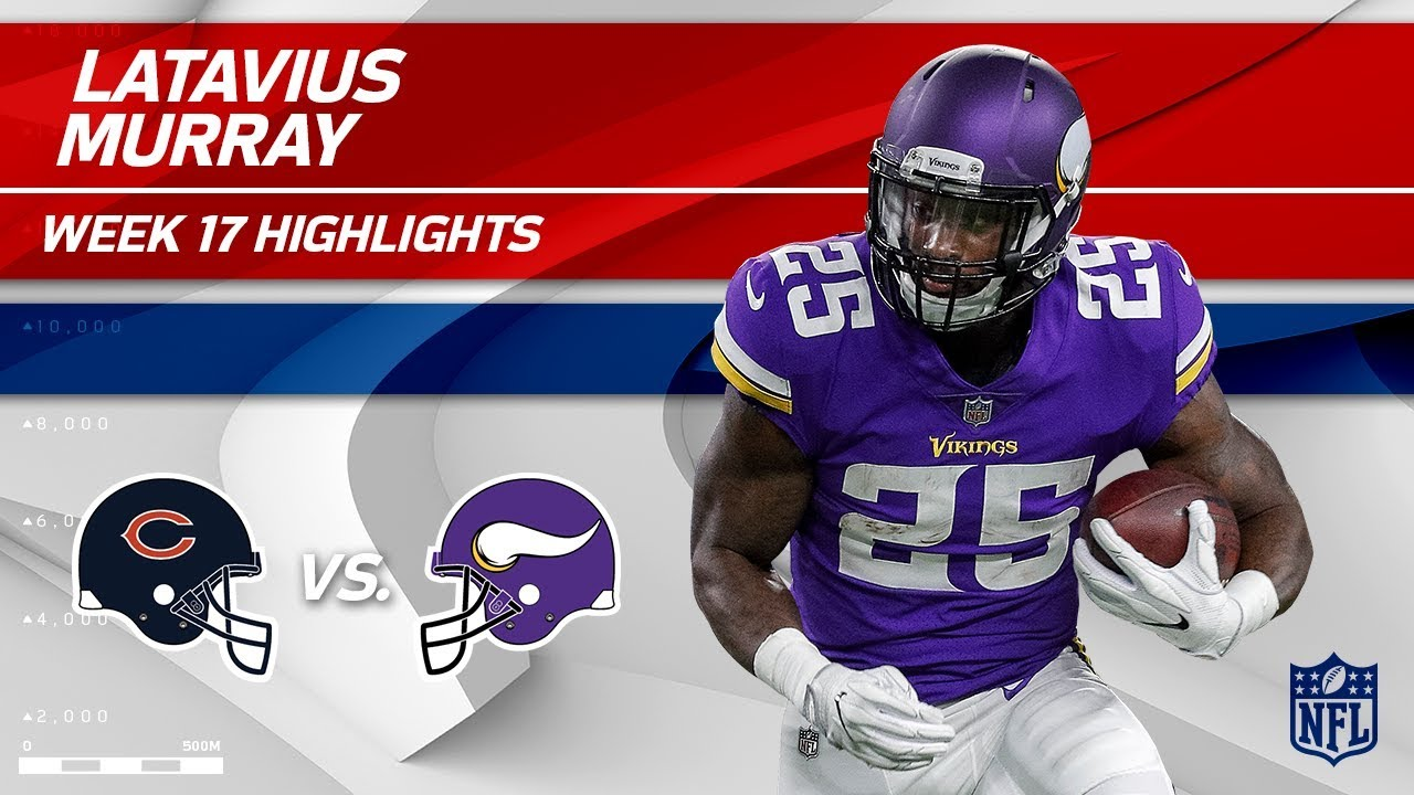 new arrival 13251 34250 Latavius Murray's Massive Game w/ 2 TDs & 111 Rushing Yds! | Bears vs.  Vikings | Wk 17 Player HLs