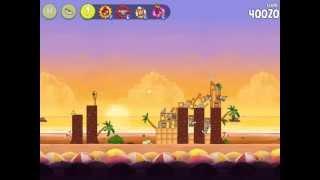 Angry Birds Rio - Golden Cherry #1. Level 1 Golden Beachball. [HD]