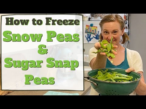 How to Freeze Snow Peas and Sugar Snap Peas