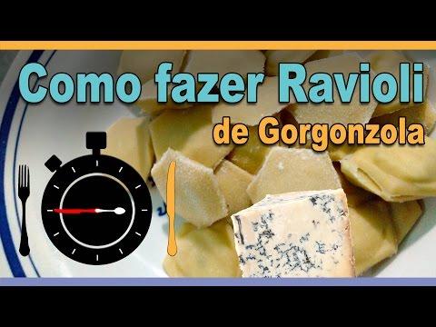 Como fazer Massa de Ravioli com Gorgonzola – Receitas em segundos | #0047
