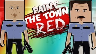 CONDUCTING THE ULTIMATE BANK HEIST?! (Paint The Town Red Gameplay Roleplay) Robbing A Bank!