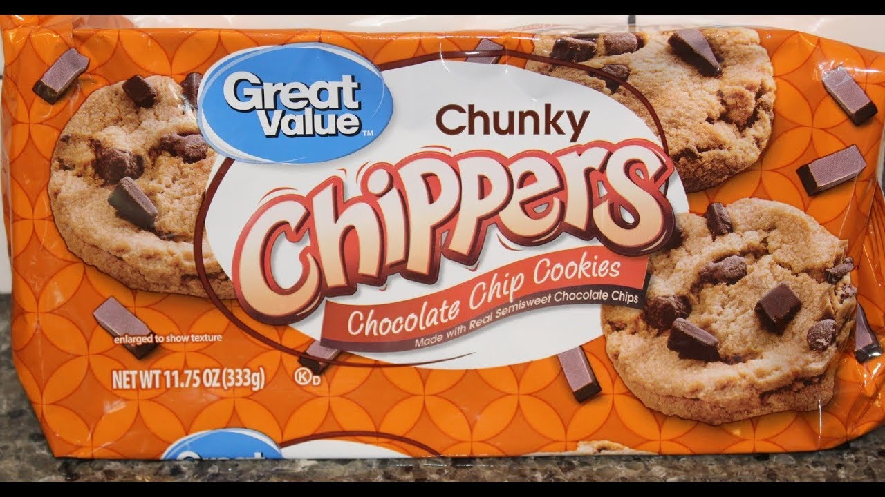 Great Value Walmart Brand Chunky Chippers Chocolate Chip Cookies