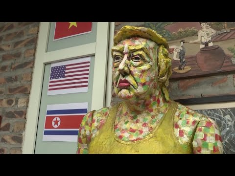 Hanoi artist paints Trump again and again