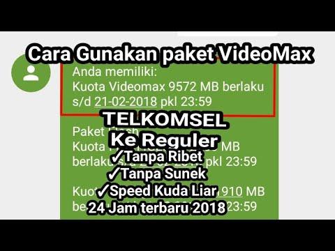 Ubah VideoMax Telkomsel ke Reguler terbaru Speed Joss Anti sunek 2018