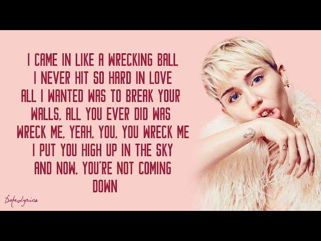 Wrecking Ball - Miley Cyrus (Lyrics) 🎵