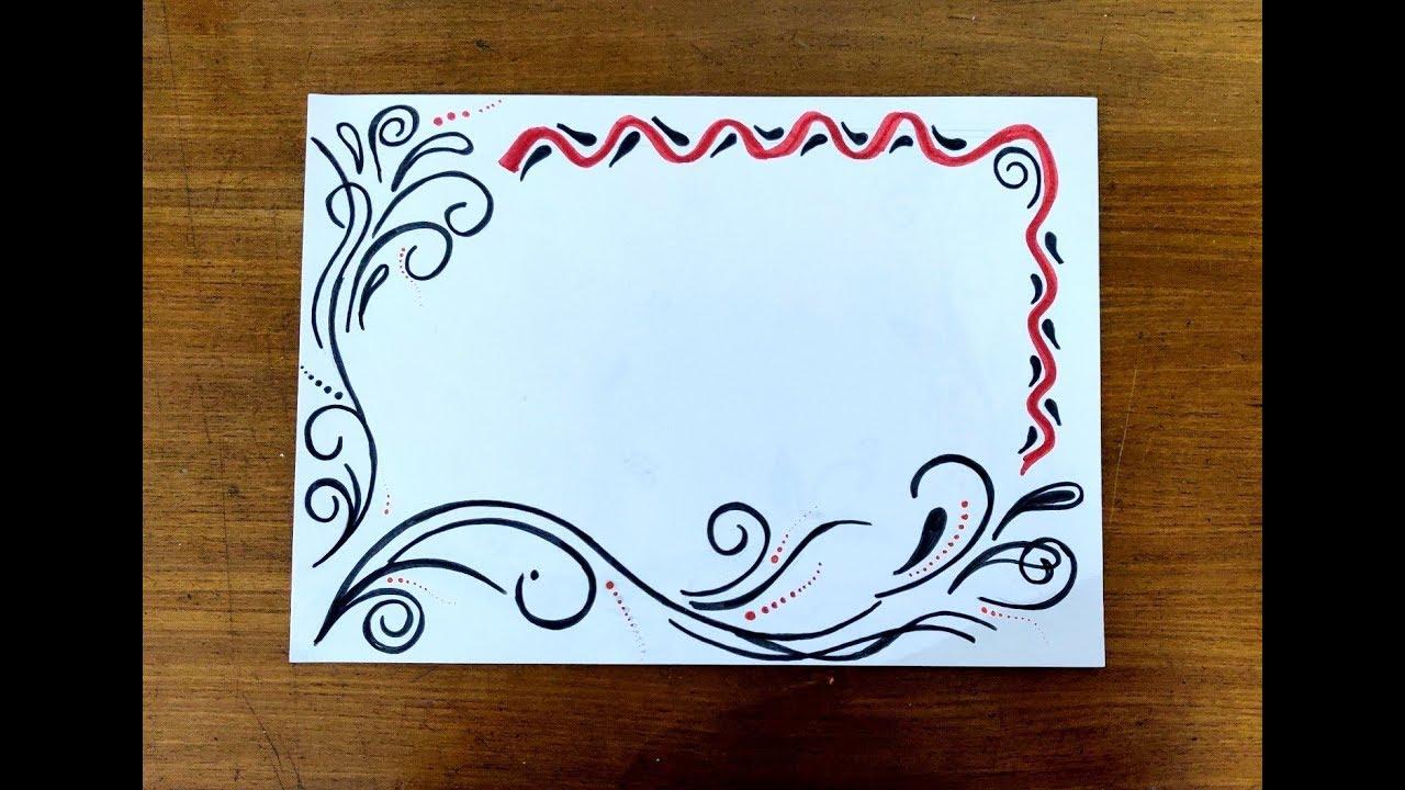 Diy Sketch Pens Simple Easy Decorative Border Design For Project File Back To School 442