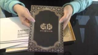 G-Dragon One Of A Kind (Gold Version) Unboxing with Poster