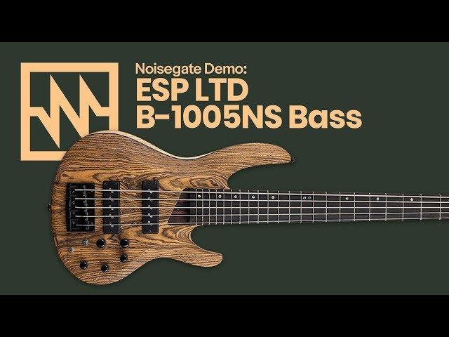 2019 ESP LTD: B-1005NS Bocote 5 String Bass - A First Look