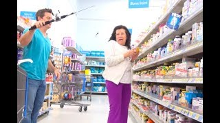 Spider Prank at WalMart - Scared Lady Hits Me!