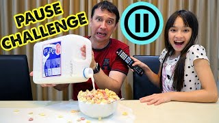 Pause Challenge for 24 hours - Brianna and Skyler play with Magic Remote!