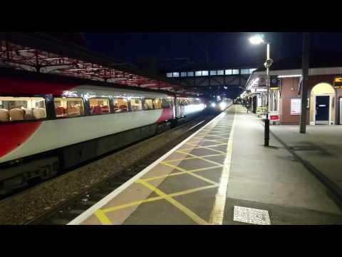 "New BR Hitachi class 800 virgin trains ""Azuma"" passing through on Grantham station on 8th July 2016"