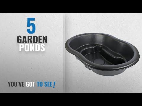 Top 10 Garden Ponds [2018]: The Shannon Black Plastic Garden Instant Wildlife Preformed Pond