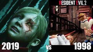 Annette Saves Sherry From Becoming A Zombie - RE2 Remake VS Original RE2 Comparison