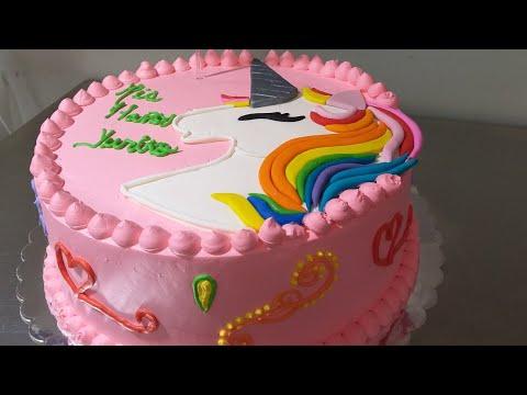 Pastel Unicornio En Tres Leches Con Chantilly Youtube