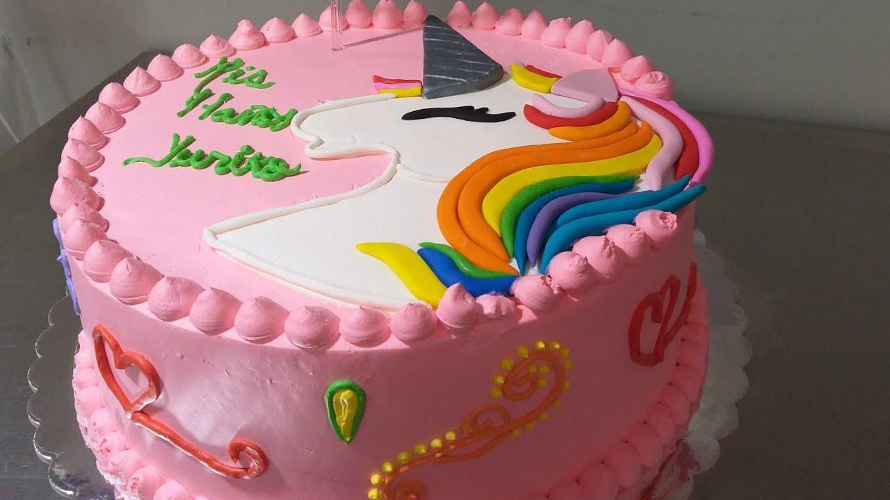Pastel Unicornio En Tres Leches Con Chantilly