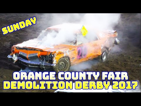 Demo Derby at the Orange County Fair 2017