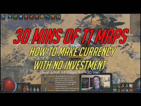 [PoE] How to make currency with no investment - T1 maps
