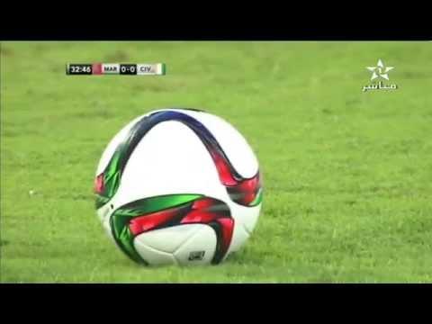 Maroc vs Cote d'Ivoire Match Amicale 1ere Mi-temps 09/10/2015
