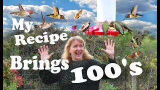 How to make Hummingbird Nectar Food, Cheap and Fast, white sugar an...