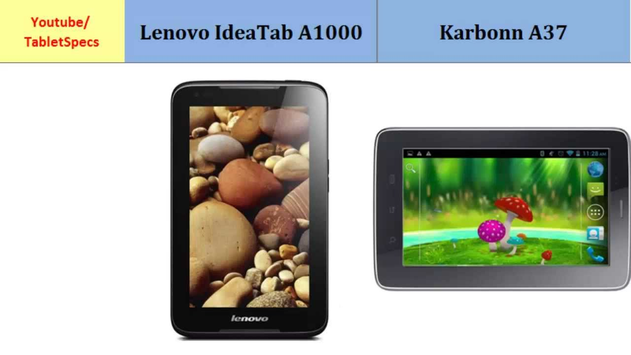 Lenovo IdeaTab A1000 VS Karbonn A37 Key Features And Differences