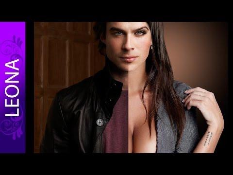 Грудастый Йен Сомерхолдер (меняем пол) если бы родился женщиной  Photoshop cs6 =D