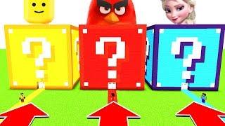 Minecraft : Do Not Choose The Wrong LUCKYBLOCK (Lego, Angry Bird, ELSA)PS4/XboxOne/PE/MCPE)