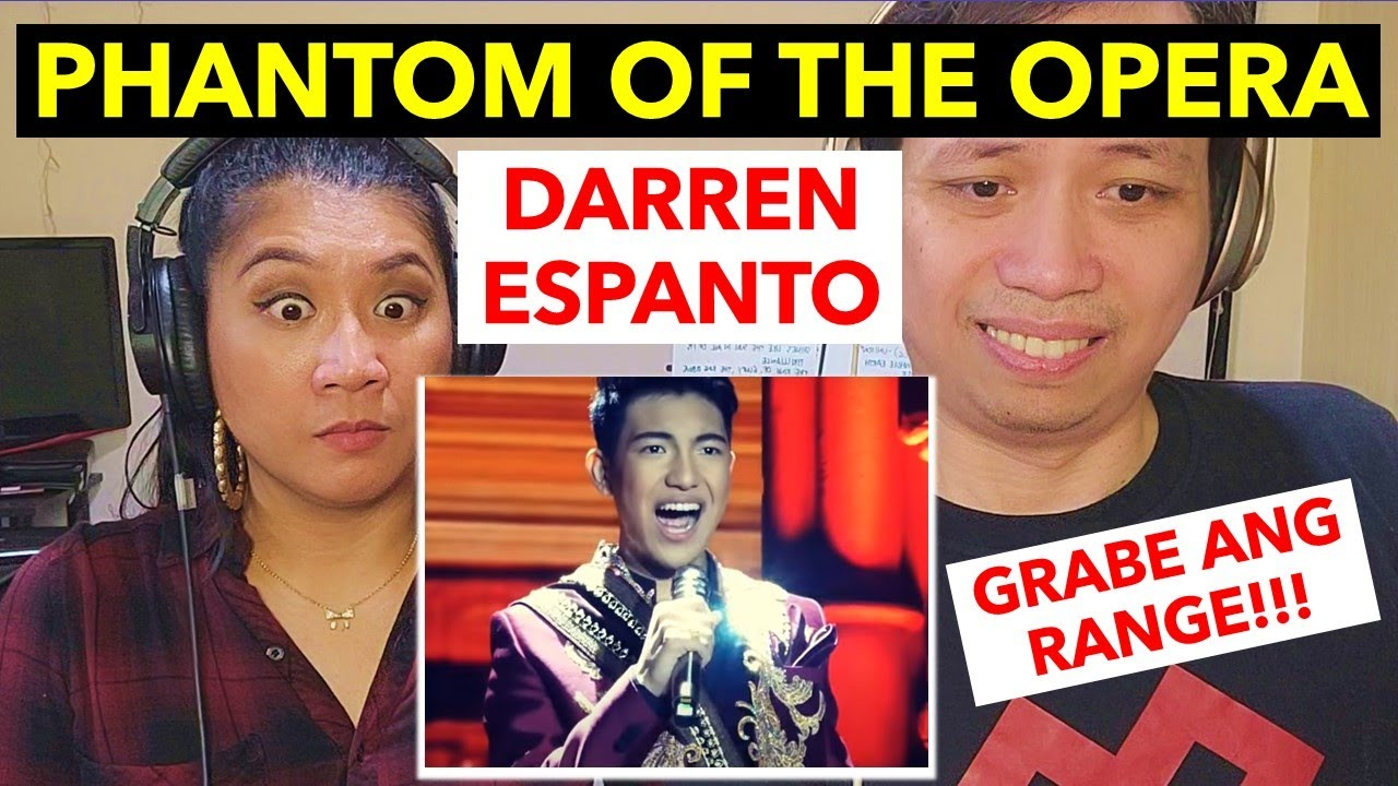 PHANTOM OF THE OPERA   DARREN ESPANTO   MUSICAL DIRECTOR AND VOCAL COACH REACTS (Eng sub available)