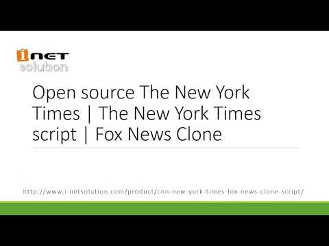 Now Open source The New York Times Clone Script available at low cost - I-Netsolution