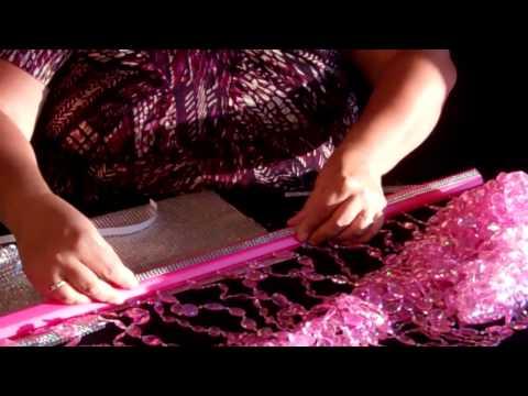 How To Dress A Beaded Curtain Rod Using Diamond Wrap and Diamond Stickers