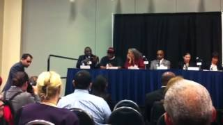 Our CEO, Daniel Bradley speaking on a panel during the Cong