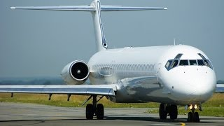 ec ltv swiftair md83 incredible take off sound at rennes airport