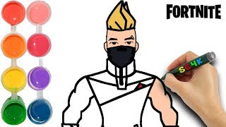 How to draw Fortnite Drift from the Season 5 gameplay | Kids learn game colors