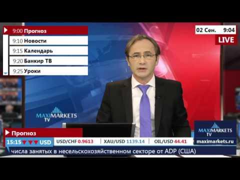 02.09.15 (9:00 MSK) - Прогноз рынка Форекс. MaxiMarkets форекс ТВ.