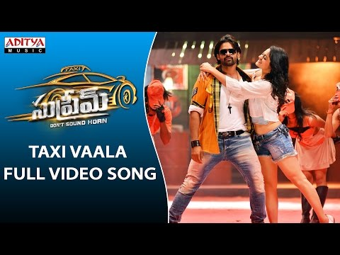 Taxi Vaala Full Video Song | Supreme Full Video Songs |  Sai Dharam Tej, Raashi Khanna