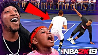 MY 4 YEAR OLD DAUGHTER BROKE MY ANKLES! DADDY VS DAUGHTER MYPARK WARS! - NBA 2K19 MyPARK