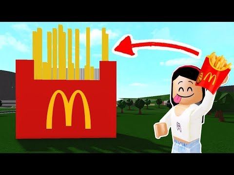 BUILDING A McDONALDS  FRENCH FRIES HOUSE in BLOXBURG! - Roblox