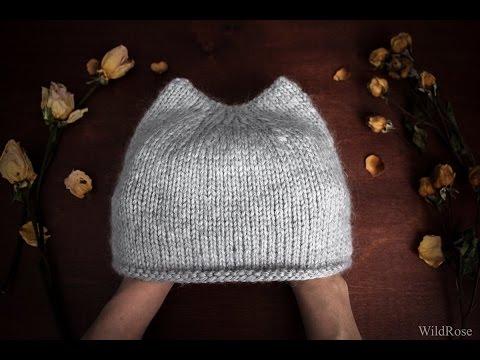 Вязание спицами. Вяжем простую шапку с ушками.