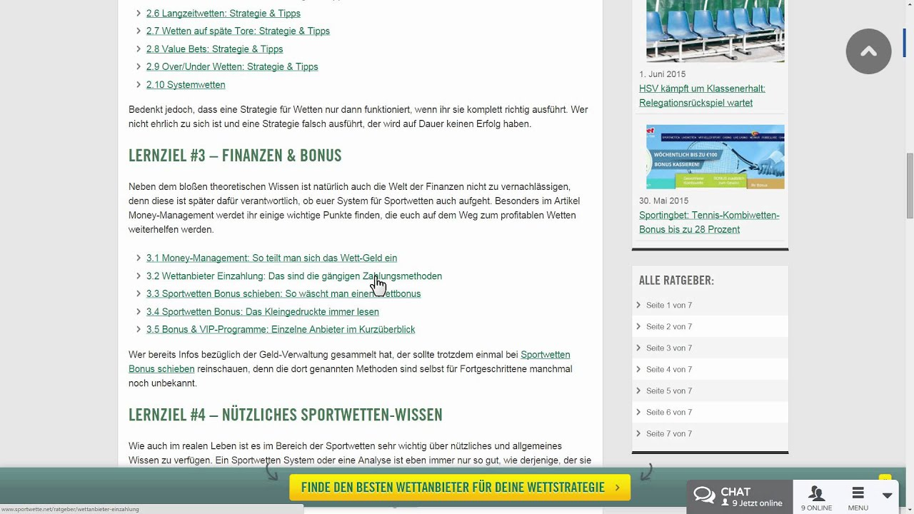 Sportwetten strategie pdf