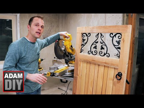 How to Make a Garden Gate - cedar wood & ornamental cast iron