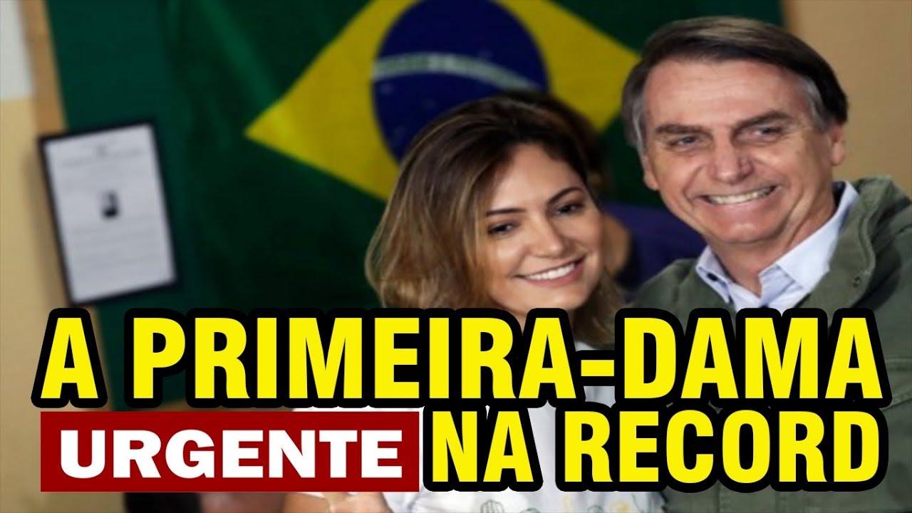 RECORD SE BENEFICIA E ENTREVISTA A PRIMEIRA DAMA MICHELLE BOLSONARO