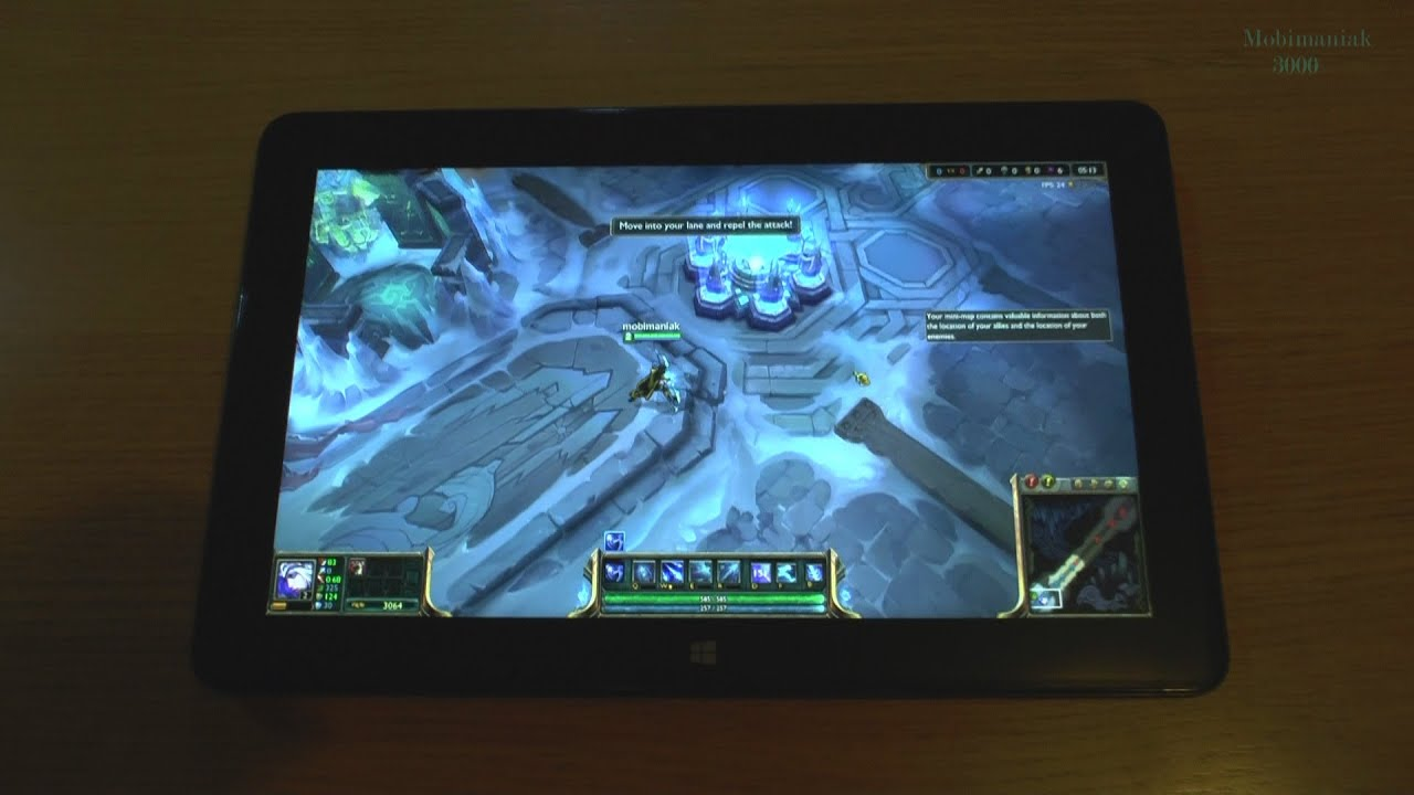 1# League Of Legends On Tablet Intel Core M-5Y71 New Dell