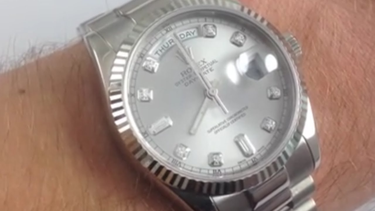 Rolex Day Date President Diamond Dial 118239 Luxury Watch Review