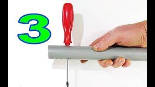 3 простых идеи и совета из ПВХ которые вам пригодятся / 3 ideas . life hack PVC . DIY . TRAINING