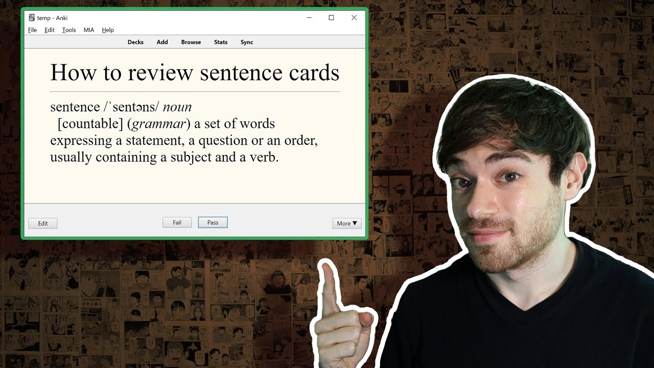 How to Review Sentence Cards in Anki