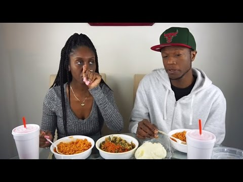African Food Mukbang (Jollof Rice, Egusi Soup, Pounded Yam)
