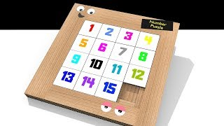 How to make eąsy Number Puzzle board Game from Cardboard || DIY cardboard craft game tutorial.